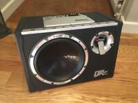 Vibe CBR10 Evolution black air II+ 1200W subwoofer with built in amplifier