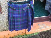 """100% wool kilt in flower of Scotland pattern 36"""" waist"""