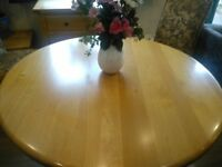 Circular Solid Oak Dining Table