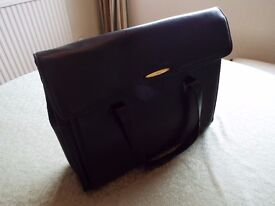 BLACK TULA LEATHER BRIEFCASE
