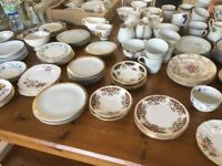 100 Sets of Vintage China Inc - tea cup, saucer and cake plate.
