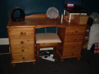 Antique Pine Dressing Table/Desk