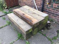 Wood sleepers/blocks