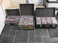 1200 CDs For Sale Including 3 Flight Cases