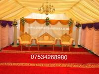 Zia Marquee hire, wedding stage , mehndi stage , tent hire , chair hire, house lighting table hire.