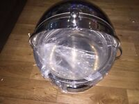 chaffing and Cattering dish - Large Party Food container - Round Half Open