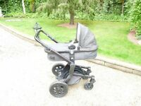 JOOLZ DAY PRAM, CHASSIS WITH BRAND NEW CARRYCOT IN BLACK