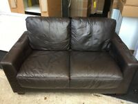 Real leather small 2 seater sofa (FREE DELIVERY)