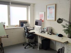 Large Work Space / desk available to rent in creative Brixton studio £160-180