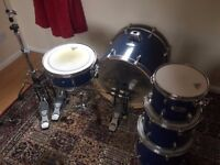 Mapex V Series 5 piece kit, double kick with double chain, quad chain hi hat stand