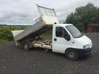 Citroen pickup tipper with tail lift