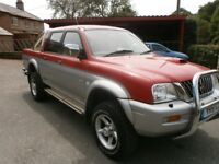 2001 (51 reg) MITSUBISHI L200 2.5 TD 4LIFE 4WD EX ALL ROUND CONDITION READY FOR WORK MOT APRIL 2019