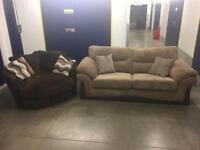 DFS 3 Seater Sofa and Swivel Chair great condition! - Delivery Available!