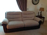 DFS recliner sofa set 3 seater+2 seater+foot stool in excellent condition