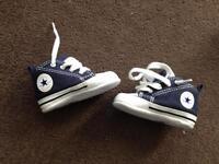 Baby converse pram shoes ex con size 1