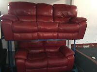 NEW / EX DISPLAY Leather LazyBoy Melissa 3 + 2 Recliner Sofas