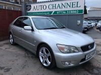 Lexus IS 200 2.0 SE 4dr£2,485 p/x welcome FREE WARRANTY. NEW MOT
