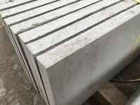 Smooth concrete gravel boards, fence panels