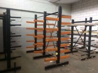 HEAVY DUTY DOUBLE SIDED CANTILEVER INDUSTRIAL COMMERCIAL WAREHOUSE RACKING UNIT