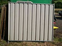 Solid metal Security fencing