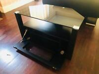 Black glass topped TV stand - £50 ono