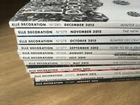 Elle Decoration 2015 - Whole year except for June - Back issues