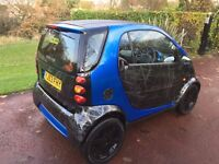 SMART FOR TWO RARE SCRATCH BLACK CUSTOMISED