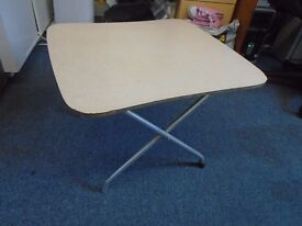 small and low fold away table.