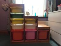 Ikea trofast unit with plastic boxes included