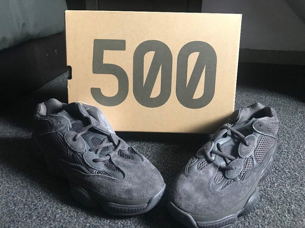 d4d84da5c  DEADSTOCK  Yeezy 500 Utility Black Sz 11.5 UK