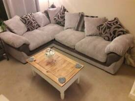 Lulaby grey corner sofa