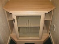 REALLY NICE DISPLAY CABINET IN BEIGE - 30 INCHES X 20 INCHES X 28 INCHES HIGH