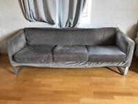 2 Large grey Lund hogen IKEA sofa VGC