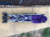 Tippitoes Purple Stroller