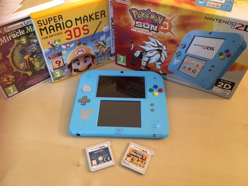 2DS Boxed with games (price dropped)