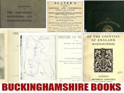 180 Old Buckinghamshire Bucks Genealogy Registers Directories History Books Disc