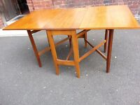 Solid Wooden Double Gate Leg Table