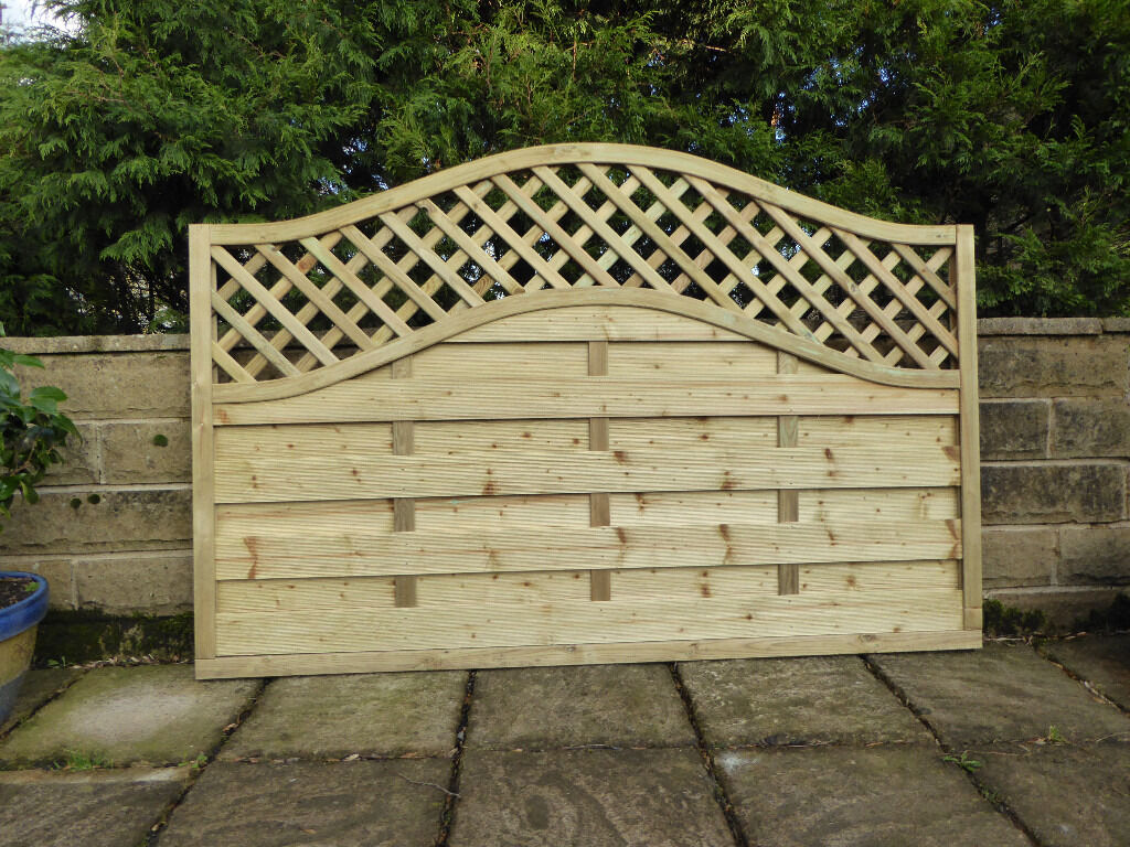 Omega lattice fence panel 180cm x 120 cm in meltham west omega lattice fence panel 180cm x 120 cm baanklon Images
