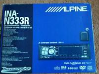 ALPINE RADIO/CD PLAYER /SAT NAV INA-N333R