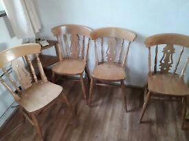 Pine DinningTable and chairs- farmhouse style