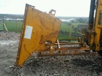 Forklift tipping skip ideal for scrap rubbish building work farm etc