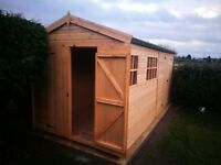 13X8FT HEAVY DUTY APEX GARDEN STORAGE TIMBER T&G SHED.