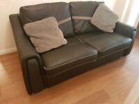 Real italian leather sofa, immaculate condition