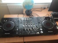 Pioneer cdj 1000 mk3 pair and pioneer djm 800 mixer