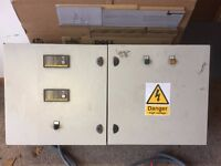 Generator crossover, control panel for mains failure switch over.