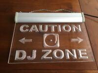 Neon Light Sign - DJ Zone...