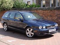 FINANCE AVAILABLE!! 2008 JAGUAR X-TYPE 2.2 SE 5dr ESTATE 6 SPEED, FULL LEATHER, SAT NAV, LONG MOT,
