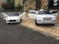 Bentley GT £145 & Bently SUV £190 Ride-On Car 12v,Parental Remote & Self Drive