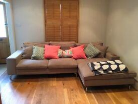 Really comfy, grey L-shaped sofa