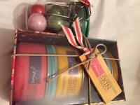 Joules new skincare set body butter scrub & body wash plus soap set .